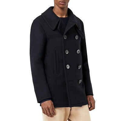$690 • Buy NWT Authentic Burberry Men's Claythorpe Double-Breasted Wool Pea Coat Size Large