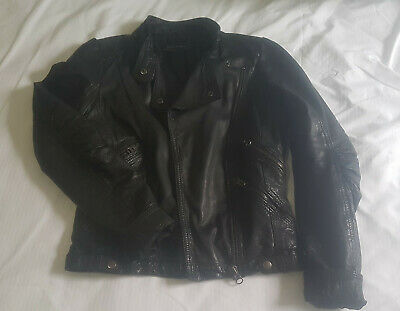 AU36 • Buy Zara Black Leather Jacket Size Small AU8 EUC