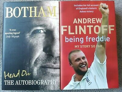 Andrew Flintoff And Ian Botham Autobiographies Both In Very Good Condition • 1.30£