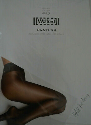 Wolford NEON 40 Tights Strumpfhose Eggplant XS Extra Small • 16.50£