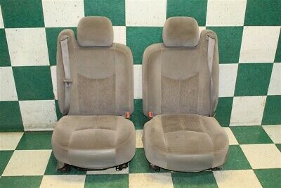 $669.99 • Buy 03-06 GM SUV Gray Cloth Power Driver Manual Passenger Front Bucket Seat Pair OEM