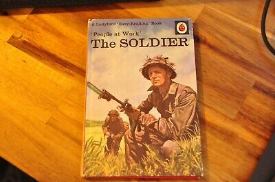 Vintage Ladybird Books - People At Work The Soldier Ladybird Hardback Book • 3.50£