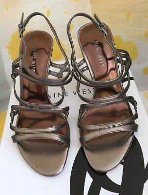 Nine West Ladies Strappy High Heel Shoes Uk Size 3 • 30£