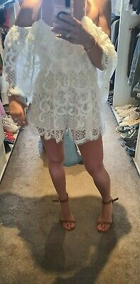 AU90 • Buy Alice Mccall Lined Playsuit In White Lace Size 6