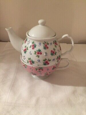 Tea For One Trapot Cup Floral • 2.10£