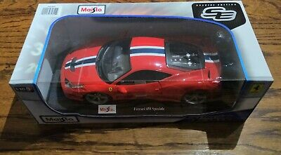 £40 • Buy Maisto Special Edition Ferrari 458 Speciale Red 1/18 Scale Diecast Model Boxed