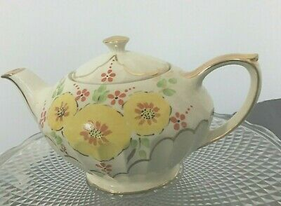 Vintage Teapot Floral 1920's 1930s Sadler Immaculate Hand Painted • 25£