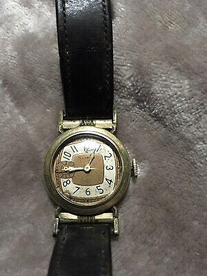 Antique Illinois 17j Mens Wrist Watch From The 1920's • 145.56£
