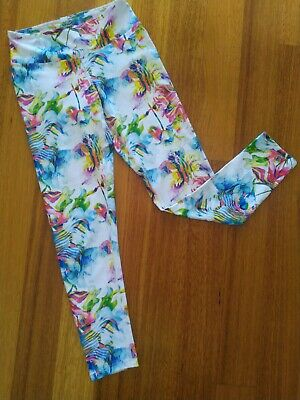 AU18 • Buy DHARMA BUMS White Multicoloured 7/8 Leggings Size S