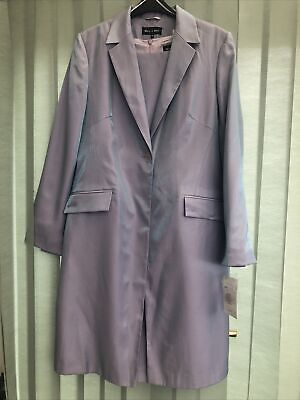 £40 • Buy Bnwt Ladies Lilac Sheen Dress And Coat Suit Size 14 Rp £120 Wedding Suit Reduced