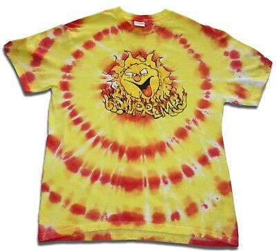 $ CDN88.38 • Buy Custom Supreme Orange Red Tie-Dye Sun Tee S/S T-Shirt  - [Large]