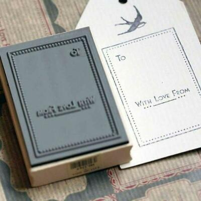 £3.95 • Buy Rubber Stamp - To ... With Love From Stamp - Wooden Rubber Craft Stamp