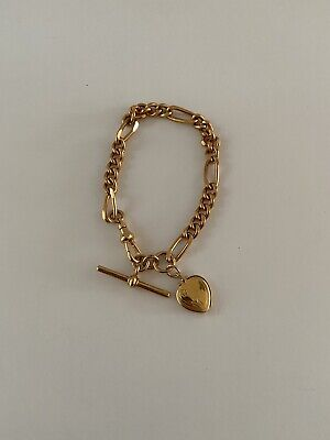AU1299 • Buy 9ct Gold Bracelet And Heart 27.60 Grams