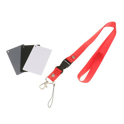 3 In 1 18% Digital White Balance Grey Card Color Exposure Cards For Video, • 3.14£
