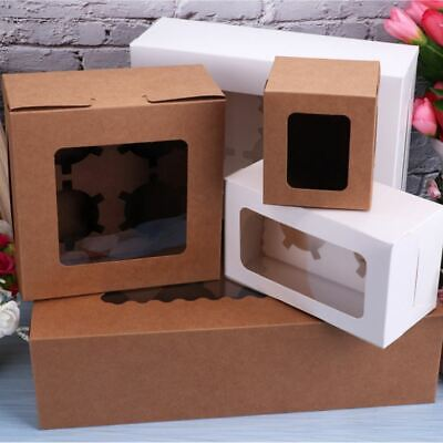 AU21.75 • Buy Cupcake Box Muffin Cases Clear Window Cupcake Display Boxes Cups 2/4/6/12 Holes