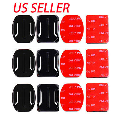 $ CDN10.09 • Buy 6Pcs Helmet Accessories Flat Curved Adhesive Mount For GoPro HERO 9 8 7 6 5 4 3