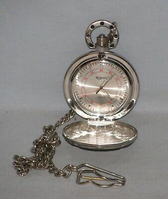 $49.99 • Buy Majesti Quartz Pocket Watch With Chain Harley Motorcycle Style Free Shipping