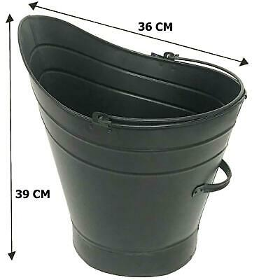Charcoal Coal Bucket Scuttle Steel Fireside Ash Log Scuttle Hod • 14.95£
