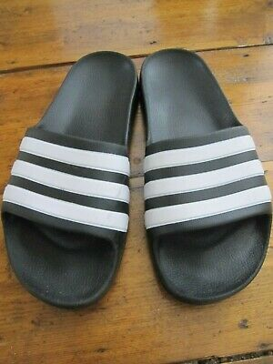 AU20 • Buy Adidas Adilette Aqua Slides - Core Black/White, Size 36 (UK 4)