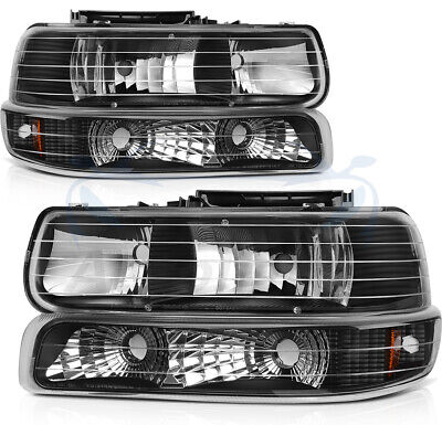 $85.61 • Buy For Chevy Silverado 1999-2002 Headlight Assembly Headlamps Replacement Parts Set
