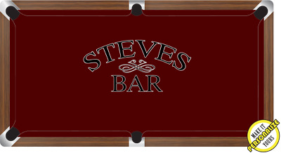 AU814.99 • Buy Graphic Digitally Printed Personalisable Standard Bar 8ft Pool Table Cloth