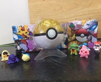 NEW! Pokemon Go Ball In A Pokemon Box With Stand & Character • 5.99£
