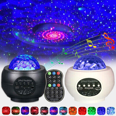 USB Galaxy Star Cloud Projector Music Night Lights Starry Ocean Wave Lamp Remote • 23.58£