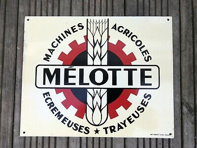 Old Original Farm Machinery MELOTTE Tin Sign Agricultural -no Enamel Oil Can • 95£