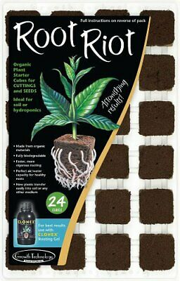 £10.62 • Buy Growth Technology Root Riot - Propagation Cubes Hydroponics Pack Of 24