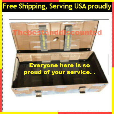$66 • Buy 81mm Brown Ammo Can U.S. Military Surplus Collectible Storage Organizer Tool Box