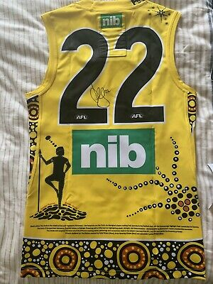 AU3200 • Buy Richmond Tigers AFL 2020 Dreamtime In Darwin Signed Guernsey Josh Caddy