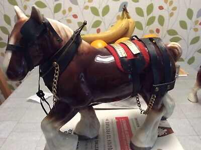 Vintage Large Shire Horse With Harness  • 10£
