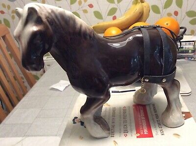 Vintage Large Shire Horse With  Part Harness  • 10£