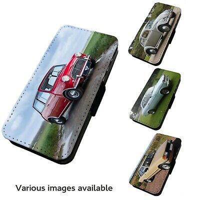 Printed Faux Leather Flip Phone Case For IPhone- V1 Various Classic Car Motorist • 9.75£