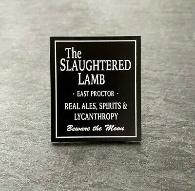 £6 • Buy An American Werewolf In London Inspired  The Slaughtered Lamb' Soft Enamel Pin