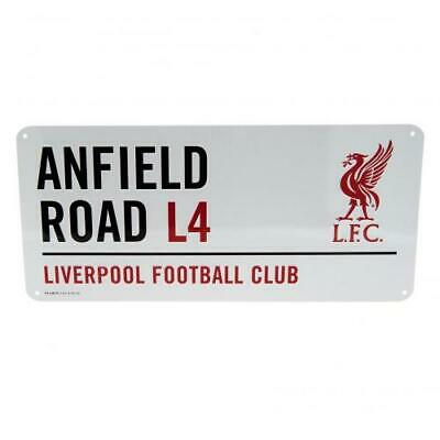 Liverpool FC Official Crested Metal Street Sign Anfield Road L4 Road Sign • 8.89£