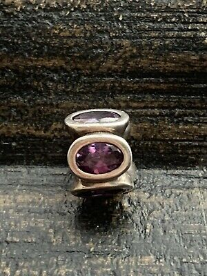 Pandora Charm - Purple Cubic Zirconia Oval Lights   790311ACZ  #7/15 • 14.99£