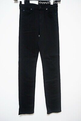 AU149.95 • Buy 7 FOR ALL MANKIND Kimmie Straight-leg Mid-rise Jeans Size 24 Black