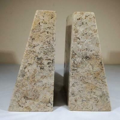 £59.99 • Buy FOSSILSTONE Fossil Coral Large Bookends - Home Decor - Himalayan