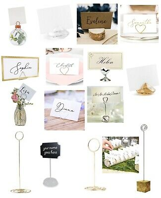 £4.99 • Buy Wedding Day Table Place Card Holders