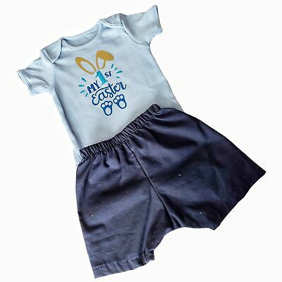 Boys My 1st First Easter Shorts & Vest Outfit • 12.74£