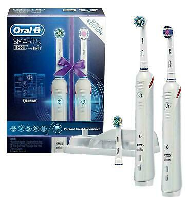AU169.88 • Buy Oral-B Smart 5 5000 Electric Toothbrush With White Dual Handle Special EDITION