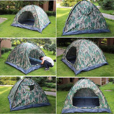 AU14.29 • Buy 2-4 Person Instant Pop-Up Camping Tent Camouflage Waterproof For Family Hiking
