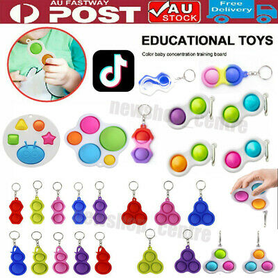 AU8.96 • Buy Baby Simple Dimple Sensory Fidget Toy Silicone Flipping Board 3+ Kids Adult Gift