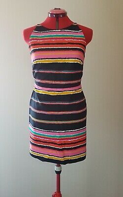AU20 • Buy Asos Colour Stripe Dress Casual/Party Size 10