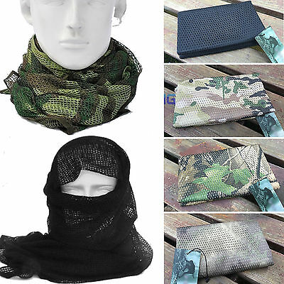 $8.16 • Buy Tactical Army Military Mesh Sniper Scrim Net Scarf Face Veil Face Cover Keffiyeh
