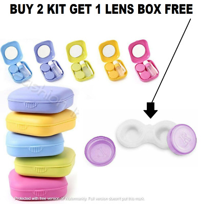 £2.75 • Buy Contact Lens Case Storage Soaking Mini Travel Eye Care Tools  #FREE & FAST POST#