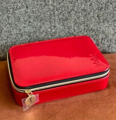 £27.50 • Buy YSL Red Deluxe Cosmetic Case Box Makeup Bag MIRROR INSIDE New In Original Bag