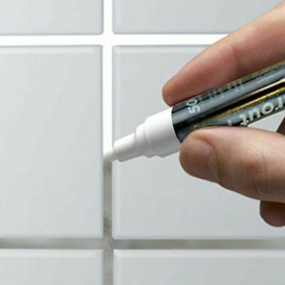 GROUT REFRESHER PEN White Brighten Discoloured Whitening Bathroom Kitchen Tile • 2.29£