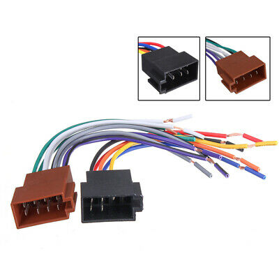 $5.69 • Buy New Car Stereo Female Socket Radio ISO Wire Harness Adapter Connector Universal
